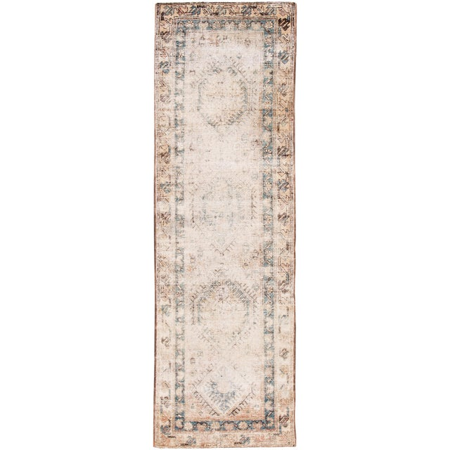 "Apadana-Antique Persian Distressed Rug, 3'1"" X 10'1"" For Sale"