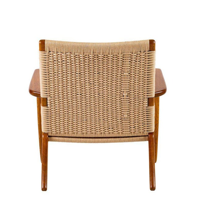 Hans Wegner Ch-25 Lounge Chair For Sale In Los Angeles - Image 6 of 10