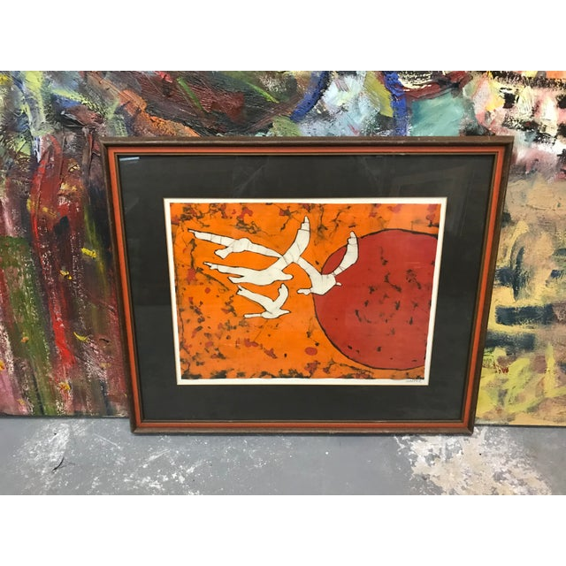 Late 20th Century Abstract Bird Lithograph Print For Sale - Image 4 of 5