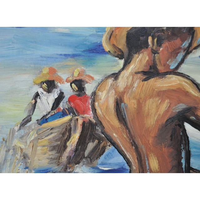 Edouard Wah Haitian Original Oil Painting C.1960s - Image 6 of 7