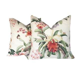 Tropical Old World Weavers Leilani Pillows Covers - a Pair For Sale