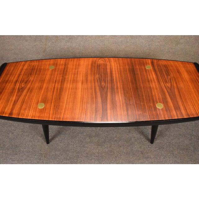 1960s Danish Modern Rosewood Coffee Table For Sale In San Diego - Image 6 of 9