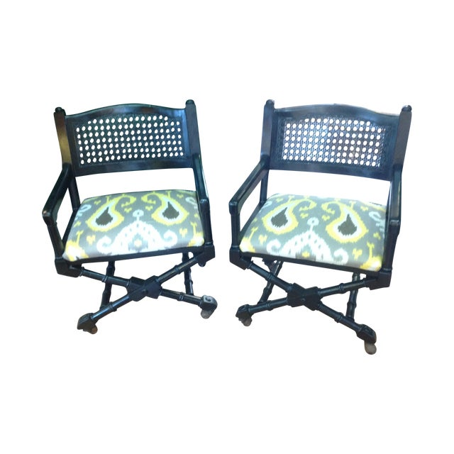 Mid-Century Campaign Chairs - Pair - Image 1 of 7