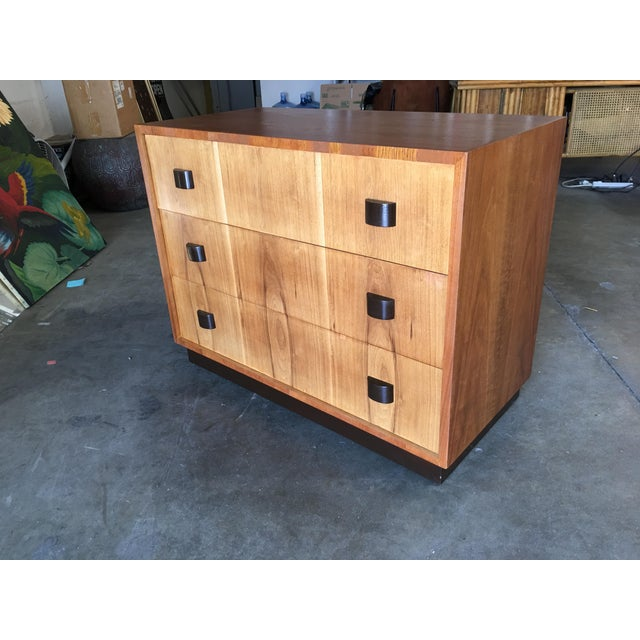 Wood George Nelson Inspired Walnut Lowboy Dressers - a Pair For Sale - Image 7 of 10