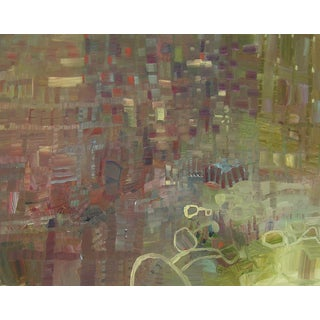 "Urso Contemporary Abstract Garden Painting ""Optique"" For Sale"