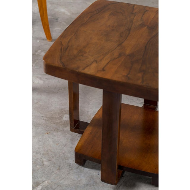 Art Deco Vintage French Walnut Table circa 1930 For Sale In Houston - Image 6 of 9