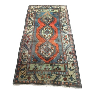 1970s Vintage Turkish Oushak Handmade Area Rug - 3′2″ × 6′4″ For Sale