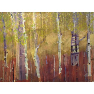 Christine Averill - Green, Treehouse in the Birches, 2015 For Sale