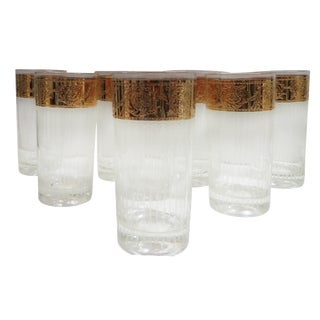 Gilt-Band Highball Glasses - Set of 8