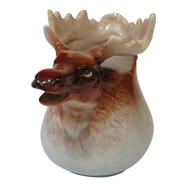 Vintage Porcelain Moose Creamer For Sale