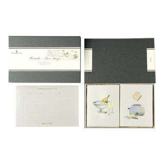 """Toast – Two Ways"" - Couplet Boxed Stationery - Folded Card Pair - Set of 10 For Sale"