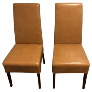 Tan Palecek Chairs - Pair For Sale