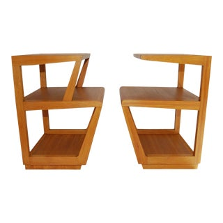 His and Hers Step Side Tables by Edward Wormley - a Pair For Sale
