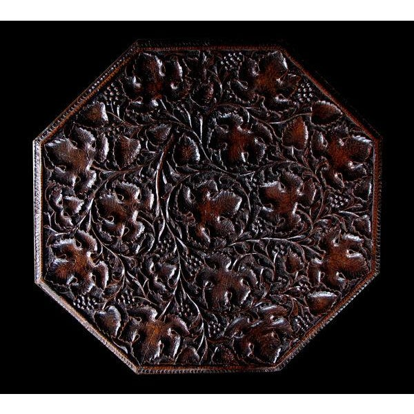 A Large-Scaled Anglo Indian Rosewood Ocatonal Traveling Table - Image 1 of 4