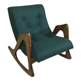 Adrian Pearsall Upholstered Rocker for Craft Associates For Sale