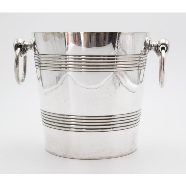 Silver Mid-Century Belgian Silver Plate Champagne Bucket For Sale - Image 8 of 8