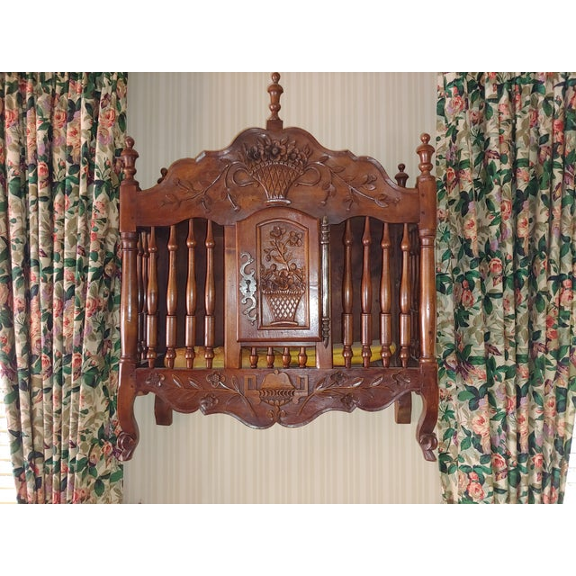 Wood Antique French Walnut Panatier For Sale - Image 7 of 7