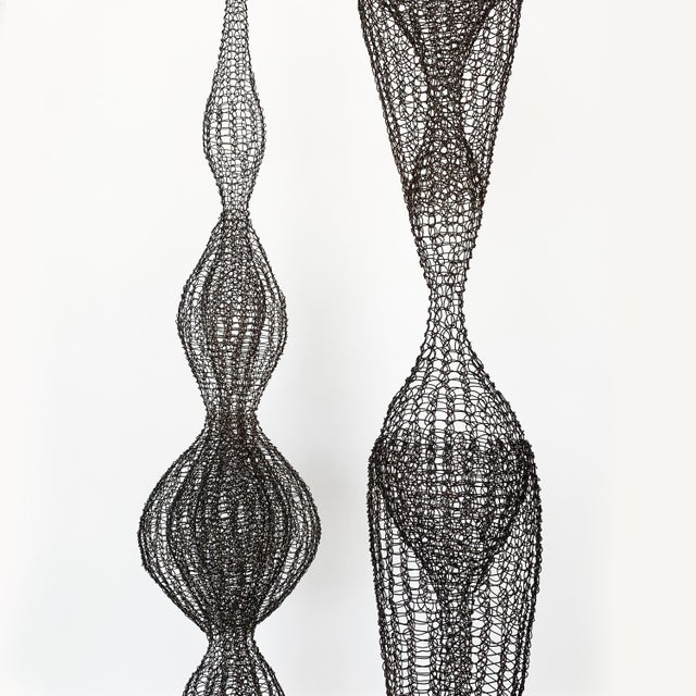 d'Lisa Creager Woven Wire Hanging Sculpture For Sale - Image 4 of 11