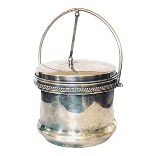 Mercury Lined Silver Ice Bucket For Sale