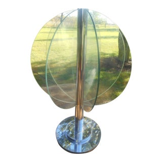 Mid-Century Modern Chrome & Glass Geometric Sculpture For Sale