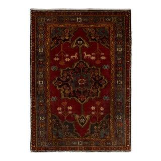"Navahand Vintage Persian Rug, 4'7"" x 6'5"" feet"