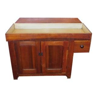Antique 19th Century Primitive Rustic Pine Dry Sink Cabinet C1880 For Sale