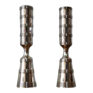 Jens Quistgaard Silver Plated Candle Holders for Dansk - a Pair For Sale