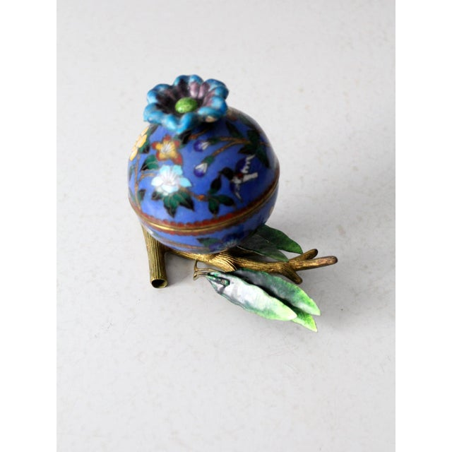 Early 20th Century Antique Cloisonne Box For Sale - Image 5 of 12