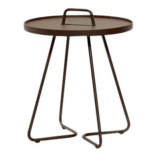 Cane-Line On-The-Move Side Table, Small, Mocca For Sale