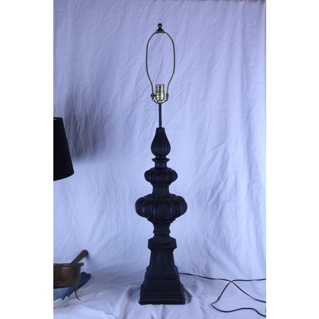 20th Century Gothic Column Table Lamp For Sale In New York - Image 6 of 6