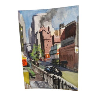 """Los Angeles Cityscape Painting by Dolores D""""Ambly For Sale"""