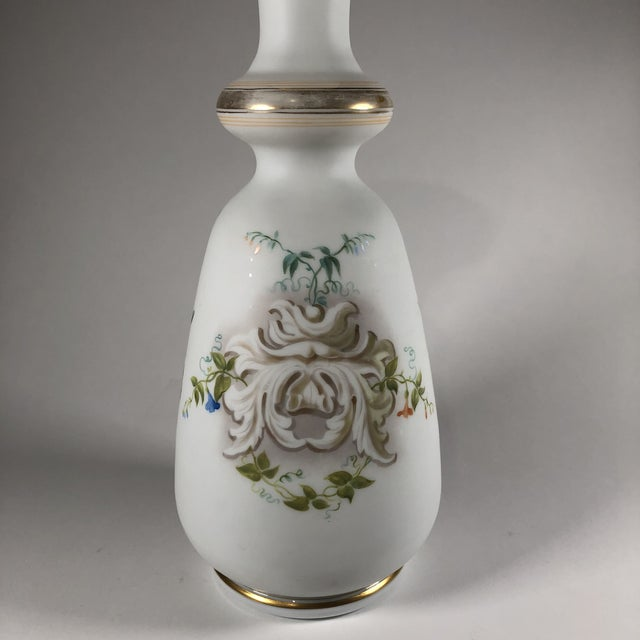 Mid 19th Century 19th Century French Hand-Painted Opaline Glass Vase For Sale - Image 5 of 9