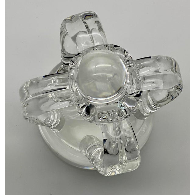 Vintage Steuben Glass Lloyd Atkins Decorative Crystal Crown For Sale In Greensboro - Image 6 of 13