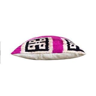 Kim Salmela Geometric Turkish Silk Velvet Ikat Square Pillow Preview