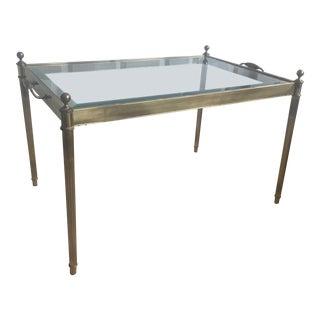 Hollywood Regency Brass Tray Table