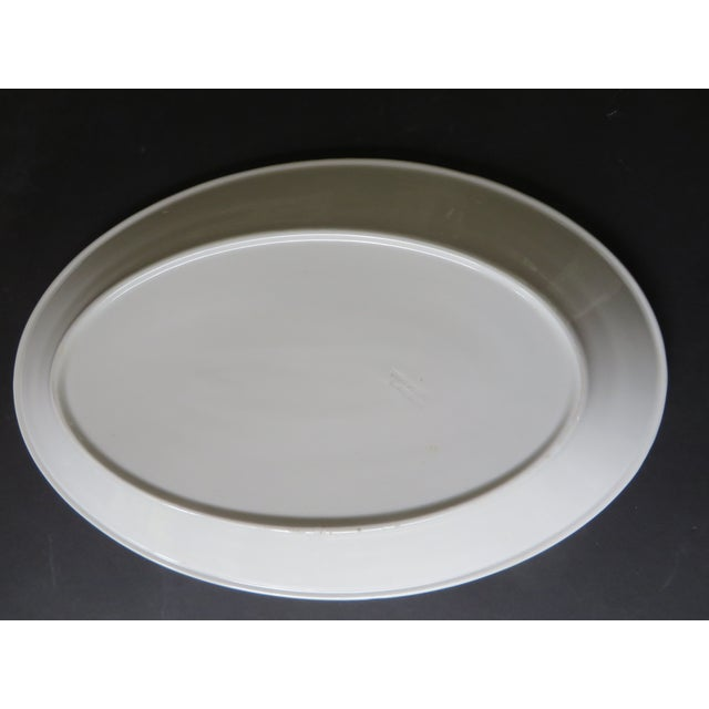 This is a large oval ironstone platter made by Maddock's China in Trenton, late 19th. century. The platter is in excellent...
