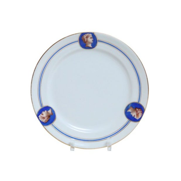 Old Paris Porcelain Neoclassical Plate - Image 1 of 3