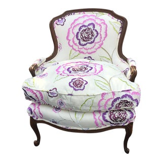 Wood Frame Bergere Chair