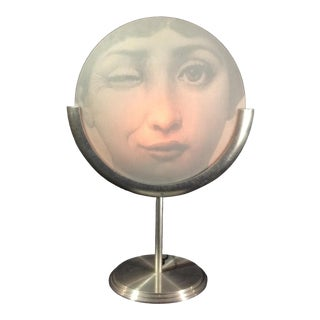 Two Sided Fornasetti Winking Julia Table Lamp From an Edition Released in the 1980s For Sale