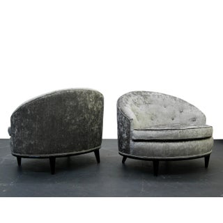 Mid-Century Barrel Back Slipper Chairs - A Pair Preview
