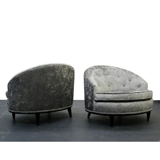Mid-Century Barrel Back Slipper Chairs - A Pair - Image 2 of 8