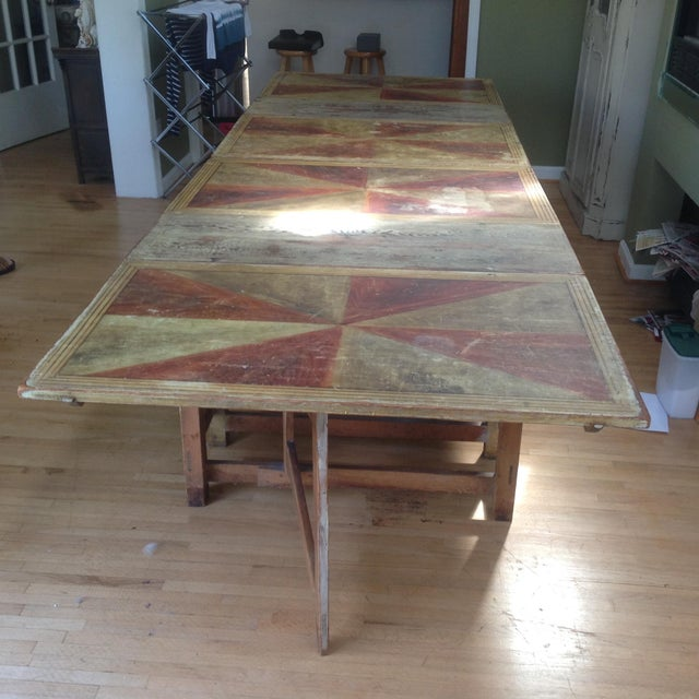 Gold & Amber Gustavian Dining Table - Image 9 of 9