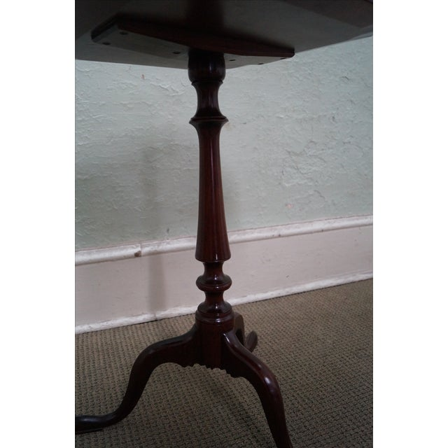 Nathan Margolis Hand Crafted Mahogany Side Table For Sale - Image 4 of 10