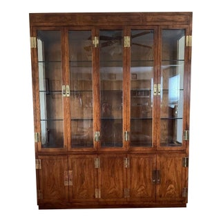"Henredon ""Campaign Series"" China Cabinet For Sale"