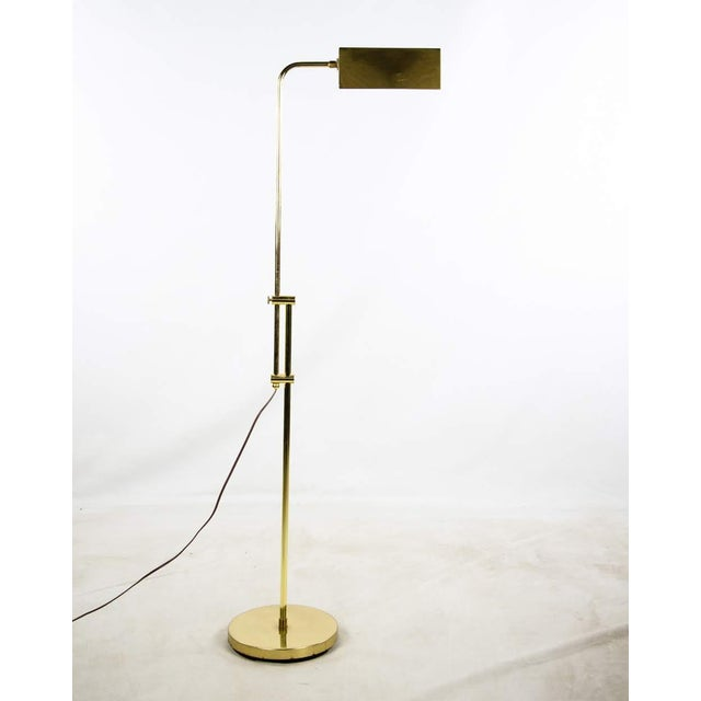 Mid Century Modern Style Brass Adjustable Reading Floor Lamp For Sale - Image 13 of 13
