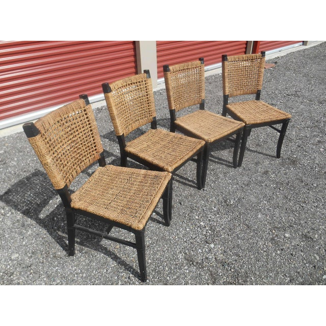 Late 20th Century Tommy Bahama Woven Cord Dining Set - 5 Pieces For Sale - Image 5 of 7