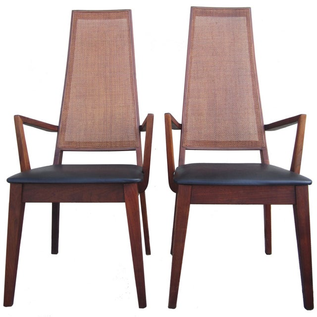 Mid-Century Cane-Back Armchairs by Tempo of Califo - Image 1 of 6