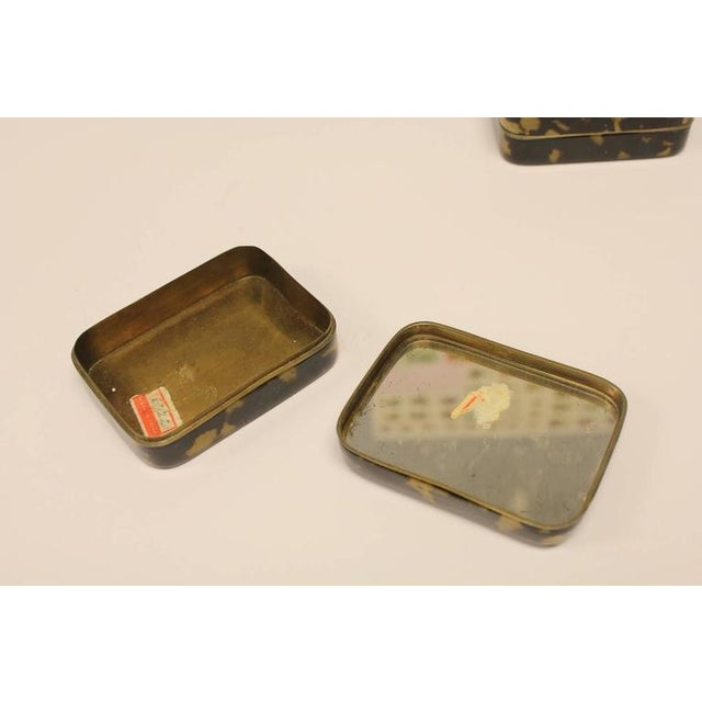 Asian Antique Chinese Decorative Tortoise Shell Overlay Boxes- A Pair For Sale - Image 3 of 4