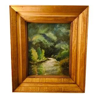 Gold Framed Landscaped Oil Painting For Sale