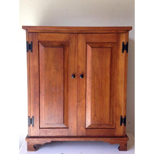 Oak Rustic Vintage Oak Cabinet For Sale - Image 7 of 7